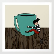 Coffee Mug Love Art Print