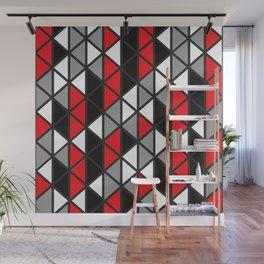 Triangular Vitrail Mosaic Pattern V.10 Wall Mural