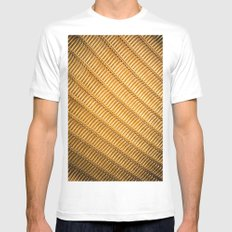 Chair with Mesh White Mens Fitted Tee MEDIUM