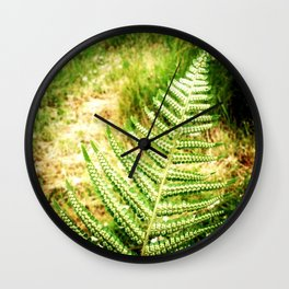 Green Fern Wall Clock