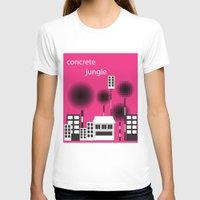 concrete T-shirts featuring concrete jungle by k. Wang