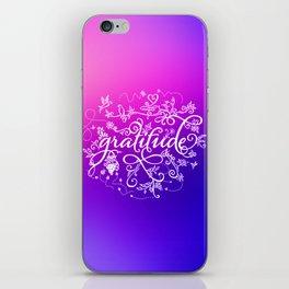 Gratitude Purply Pink iPhone Skin