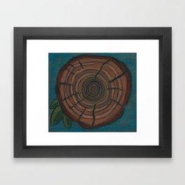 Tree Ring Framed Art Print