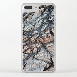 Cracked Rock Abstract Clear iPhone Case