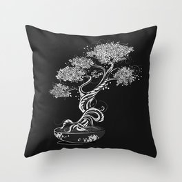 Bonsai tree Throw Pillow