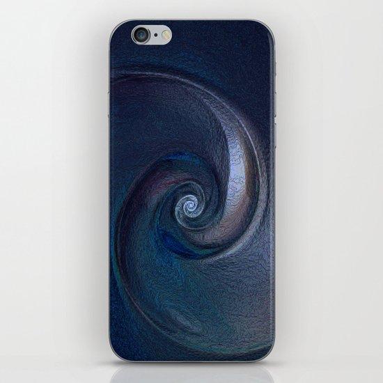 Sea Shell in Dark Blue iPhone & iPod Skin