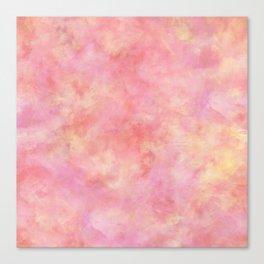 Blush Pink & Peach Marble Watercolor Texture Canvas Print