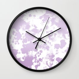 Painted abstract minimal ombre painting charlotte winter canvas art Wall Clock