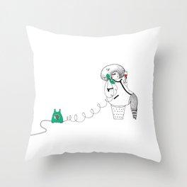 girl talk Throw Pillow