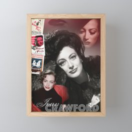 Joan Crawford Collage Portrait Framed Mini Art Print