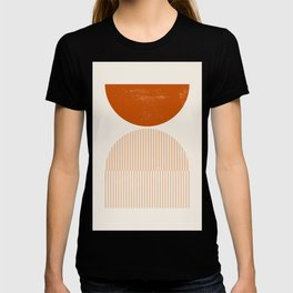 Mid century modern, mid-century wall art, print, geometric wall art, abstract wall art, interior, ma T-shirt