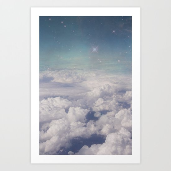 Galaxy clouds Art Print