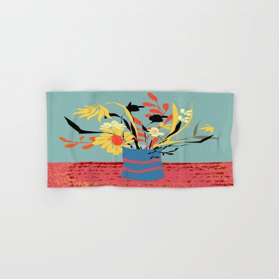 Vase of Flowers Hand & Bath Towel