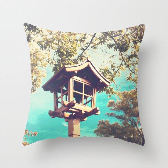 Japanese Lamp  (Retro Vintage Photography) Throw Pillow