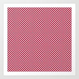 Lollipop and White Polka Dots Art Print