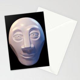 Alien-human hybrid head Stationery Cards