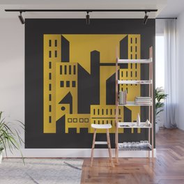 Golden city art deco Wall Mural