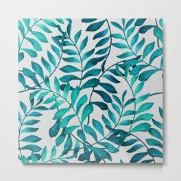 Tropical Fern Pattern light Metal Print