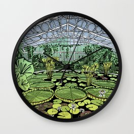 Kew Gardens Water Lily House  Wall Clock