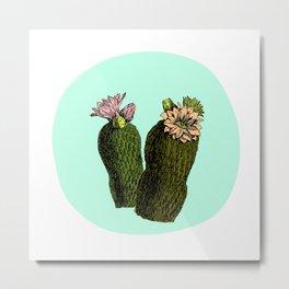 cactus mint Metal Print