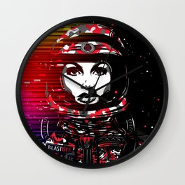 Astronaut Chick Wall Clock