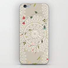 Flowers and abstract mandala iPhone & iPod Skin