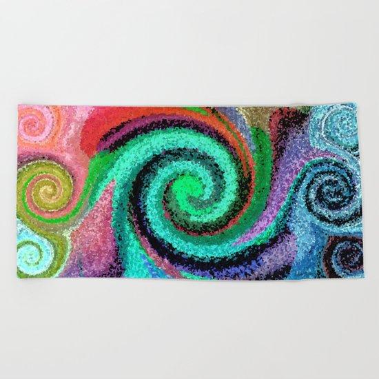 Sticky Love Mosaic Beach Towel