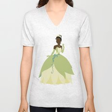 Tiana from Princess and the Frog Unisex V-Neck
