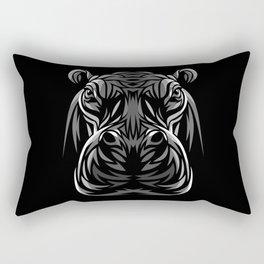 Tribal hippopotamus Rectangular Pillow