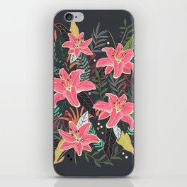 Aloha at Night floral flower illustration iPhone Skin