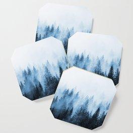 Misty Winter Forest Coaster