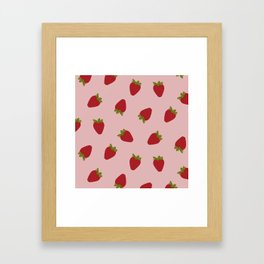 Cute Strawberries Framed Art Print