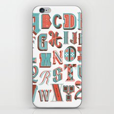 Alphabet Poster iPhone Skin