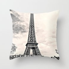 Another Eiffel Tower Photo Throw Pillow