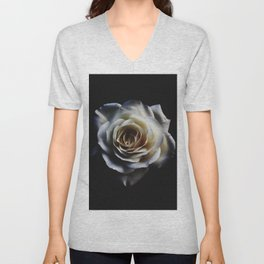 WHITE - ROSE - NATURE Unisex V-Neck