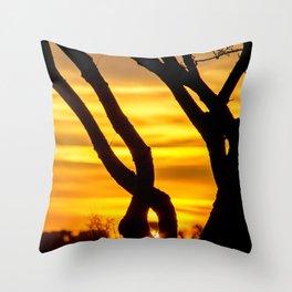 Tree Sunrise Throw Pillow