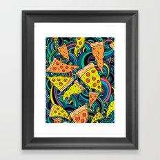 Pizza Meditation Framed Art Print