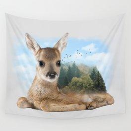 Baby Roe Deer Wall Tapestry