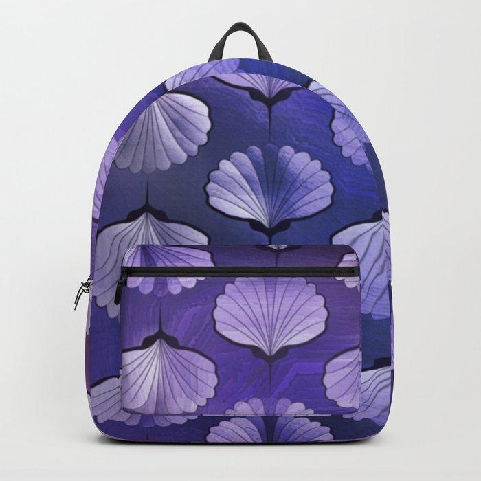 Blue sea geometric pattern Backpack