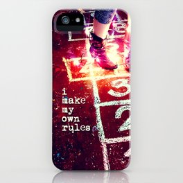 I make my own rules iPhone Case
