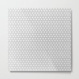 Dainty Gray Hearts Metal Print