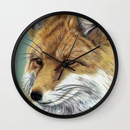 Fox Portrait 01 Wall Clock
