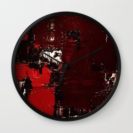 knife through the heart of our exploitation Wall Clock