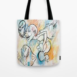 """""""Go out and meet people"""" Tote Bag"""