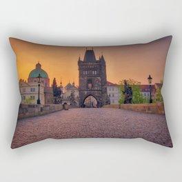 Charles Bridge Prague Czech Republic Rectangular Pillow