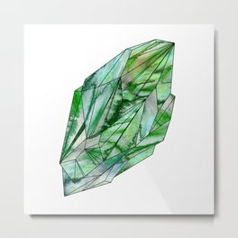 Crystal Emerald Green Gem 1 Metal Print
