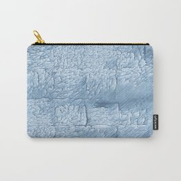 Light steel blue blurred wash drawing Carry-All Pouch