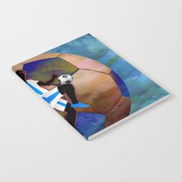 Soccer Player Silhouette Notebook