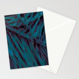 Flora Celeste Amazonite Leaves Stationery Cards