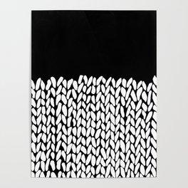 Half Knit  Black Poster
